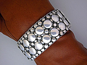 Bracelet Sterling Silver Pebble Design 8 Inch 170 Gram
