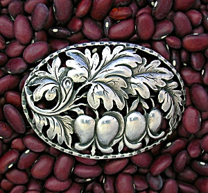 Cini Gugliemo Sterling Silver flowers and Leaves Brooch (Image1)