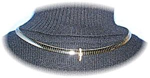 Silvertone Omega Necklace 925 CZ Slide (Image1)