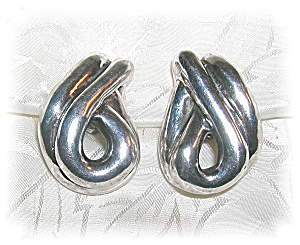 Sterling Silver Designerf Signed Clip Earring (Image1)