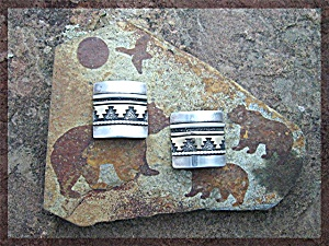 Tommy Singer Clip Earrings Sterling And Gold