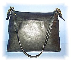 Black COACH Leather Shoulder Bag (Image1)
