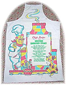 Vintage Bar B Que Cotton Cooks Recipe Apron (Image1)