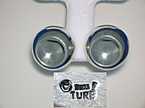 Sterling Silver Signed TURE Clip Earrings (Image1)