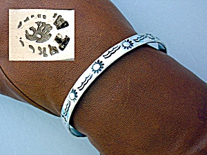 Sterling Silver Taxco Mexico Bangle Bracelet (Image1)
