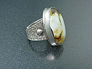 David Troutman Sterling Silver Turquoise Ring  (Image1)