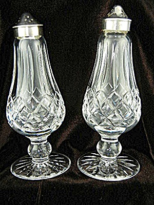 WATERFORD Crystal Lismore Salt and Pepper Set footed (Image1)