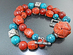 Apple Coral Sterling Silver Turquoise Necklace Paige Wa (Image1)