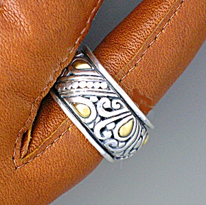 18k Gold Sterling Silver Ring Asm