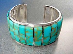 Native American Sterling Silver Turquoise J. Thompson
