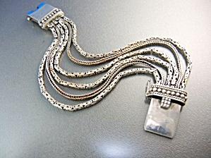 Silpada Sterling Silver 6 Strand Bracelet Push Clasp (Image1)