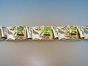 Bracelet Peridot Sterling Silver Push Clasp  (Image1)