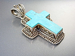 Cross Turquoise Sterling Silver Indonesia