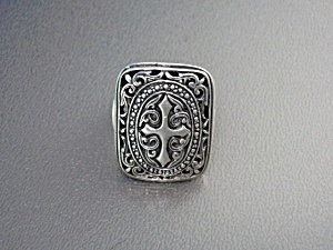Sterling Silver Cross Ring Indonesia
