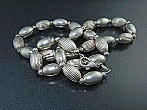 Sterling Silver Beads Necklace Italy