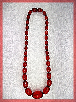 Necklace Cherry Amber Faceted Graduated ........ (Image1)