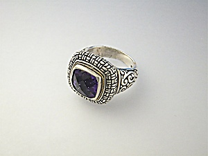 Ring Amethyst 18k Sterling Silver Designer Nk Indonesia