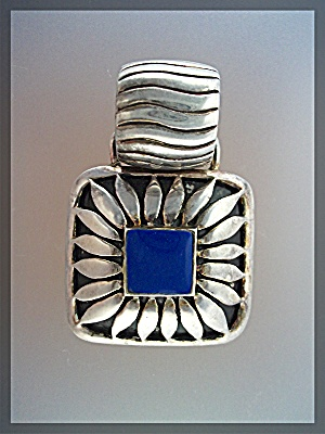 Pendant Large  Silver and Blue Lapis ..... (Image1)