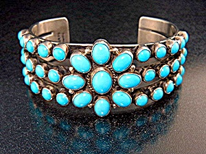 Native American Sterling Silver Sleeping Beauty Turquoi