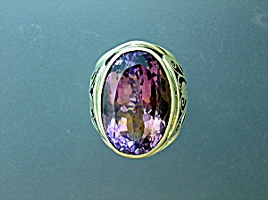 Sterling Silver Faceted Amethyst Ring (Image1)
