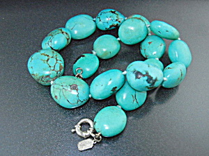 Turquoise Sterling Silver Necklace Kalan USA (Image1)
