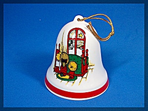 Christmas Tree Ornament Bell Peace On Earth