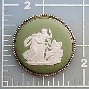 Cameo Wegwood Sterling Silver Brooch England (Image1)