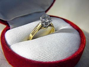 Ring  18K Diamond Solitaire 40pt English Hallmarks (Image1)