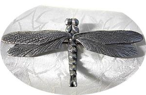 Antique Large Silver Dragonfly Brooch/pin