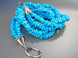 Turquoise Sleeping Beauty Silver Toggle Clasp