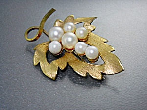 14k Gold Fill Wells Sterling Silver Cultured Pearl Pin
