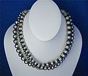 Necklace Sterling Silver 3 Strand Beads (Image1)