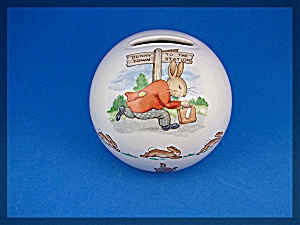 Royal Doulton Bunnykins Bank Train Round 1035