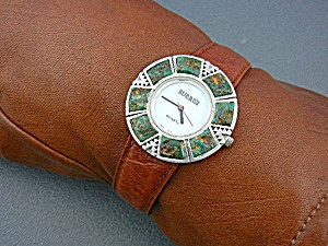 Watch SURRISI Sterling Silver Malachite Mother Pearl Fa (Image1)