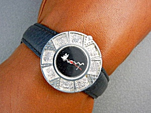 Surrisi Mountain Time Silver Plate Wristwatch (Image1)