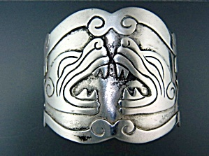 Taxco Mexico Sterling Silver Bracelet Signed LC 105 (Image1)