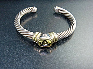 David Yurman 14K Gold  Sterling Silver Citrine Bracelet (Image1)
