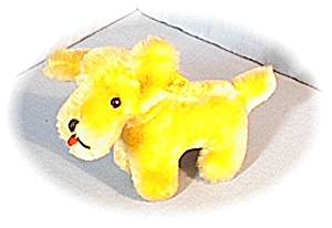 8 Inch Golden Mohair Character Doggie (Image1)