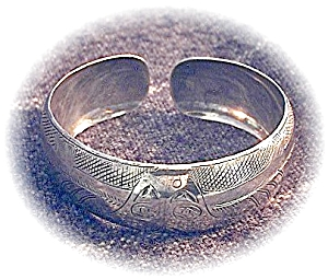 Open Ended Silver Cuff Bangle Bracelet