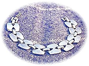 Solid Sterling Silver Square Link Bracelet . . . (Image1)