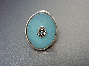 Silpada Sterling Silver Blue Glass Ring (Image1)