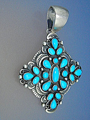 Navajo Sleeping Beauty Turquoise Sterling Silver Living