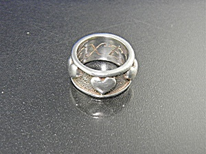 Ex Ex Sterling Silver Hearts Claudia Agudelo Ring