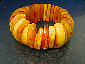 Baltic Butterscotch Amber Stretch Bracelet 102 Grams