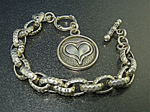 Exex Sterling Silver Heart Bracelet By Claudia Agudelo