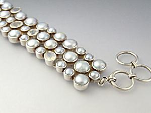 Bracelet Sterling Silver Pearls Mystic Moonstone Starbo (Image1)