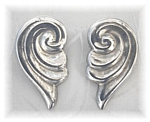 Sterling Silver Swirl Clip Earrings Mexico (Image1)