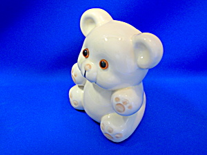 Bank - Enesco - Teddy Bear With Glass Eye