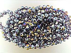 Necklace Crystal Lavender Faceted Beads Hand Knotted (Image1)