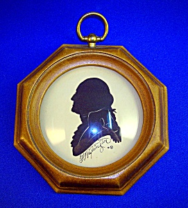 Silhouette Of Gearge Washington Framed